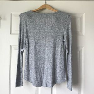 Old Navy Sweaters - Old Navy Grey Ribbed Lightweight Sweater-Size M